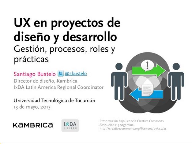 UX en proyectos de diseño y desarrollo   Gestión  procesos  roles y p…