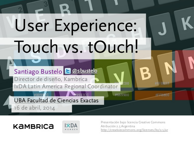 User experience  Touch vs. tOuch